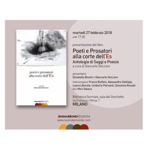 """Presentazione del libro """"Poeti e Prosatori alla corte dell'Es"""" a Milano"""