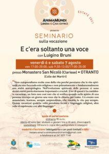 Seminario sulla vocazione con Luigino Bruni