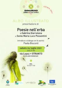 Presentazione di Poesie nell'erba – Sabrina Giarratana, Sonia Maria Luce Possentini