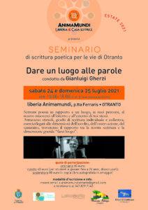 Seminario di scrittura poetica per le vie di Otranto con Gianluigi Gherzi